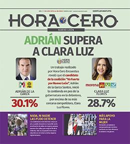 Adrián aventaja a Clara Luz por la gubernatura de Nuevo León